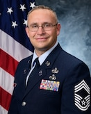 Chief Master Sergeant Apodaca's official photo.