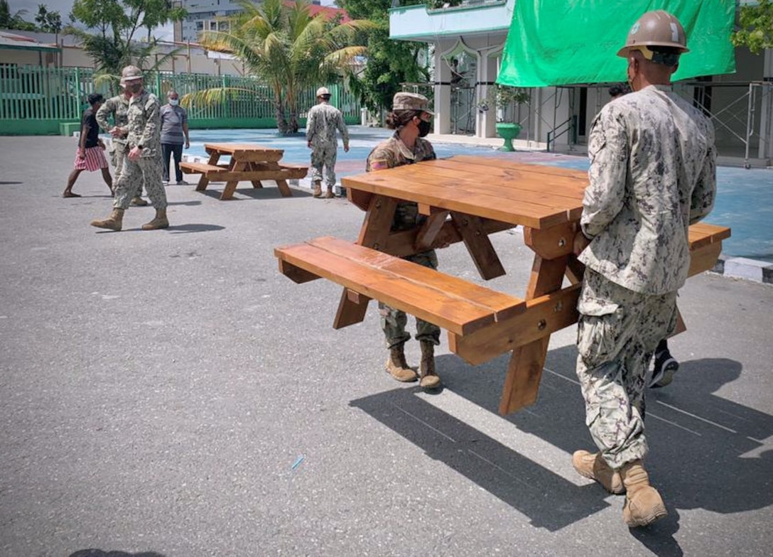 Task Force Oceania and Seabees team up in Timor-Leste