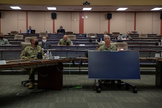 Senior military leaders hold strategic level discussions.