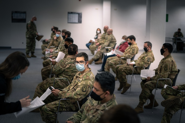 Image of soldiers sitting.