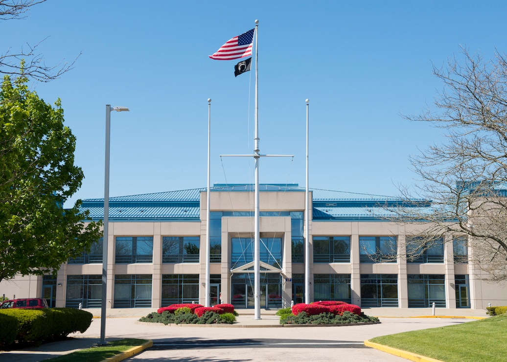 Photo of the U.S. Naval War College McCarty Little Hall on Naval Station, Newport, R.I., May 20, 2020.