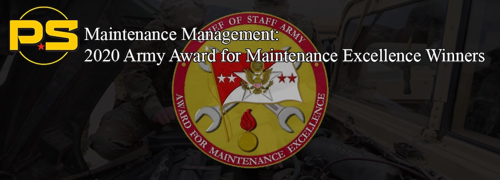2020 Army Award for Maintenance Excellence Winners