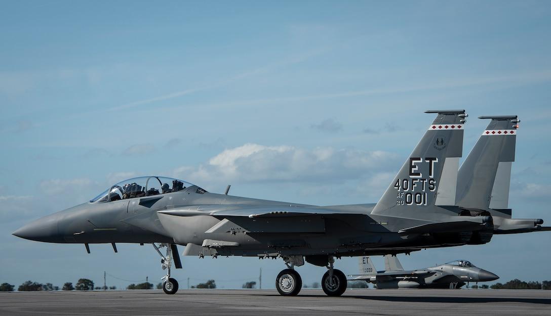 AF's first F-15EX arrives at Eglin