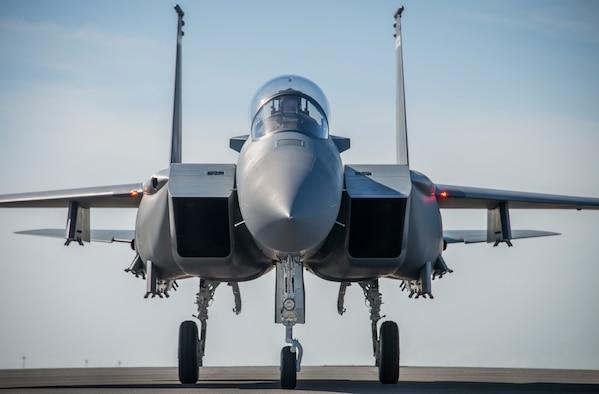 F-15EX arrives at Eglin