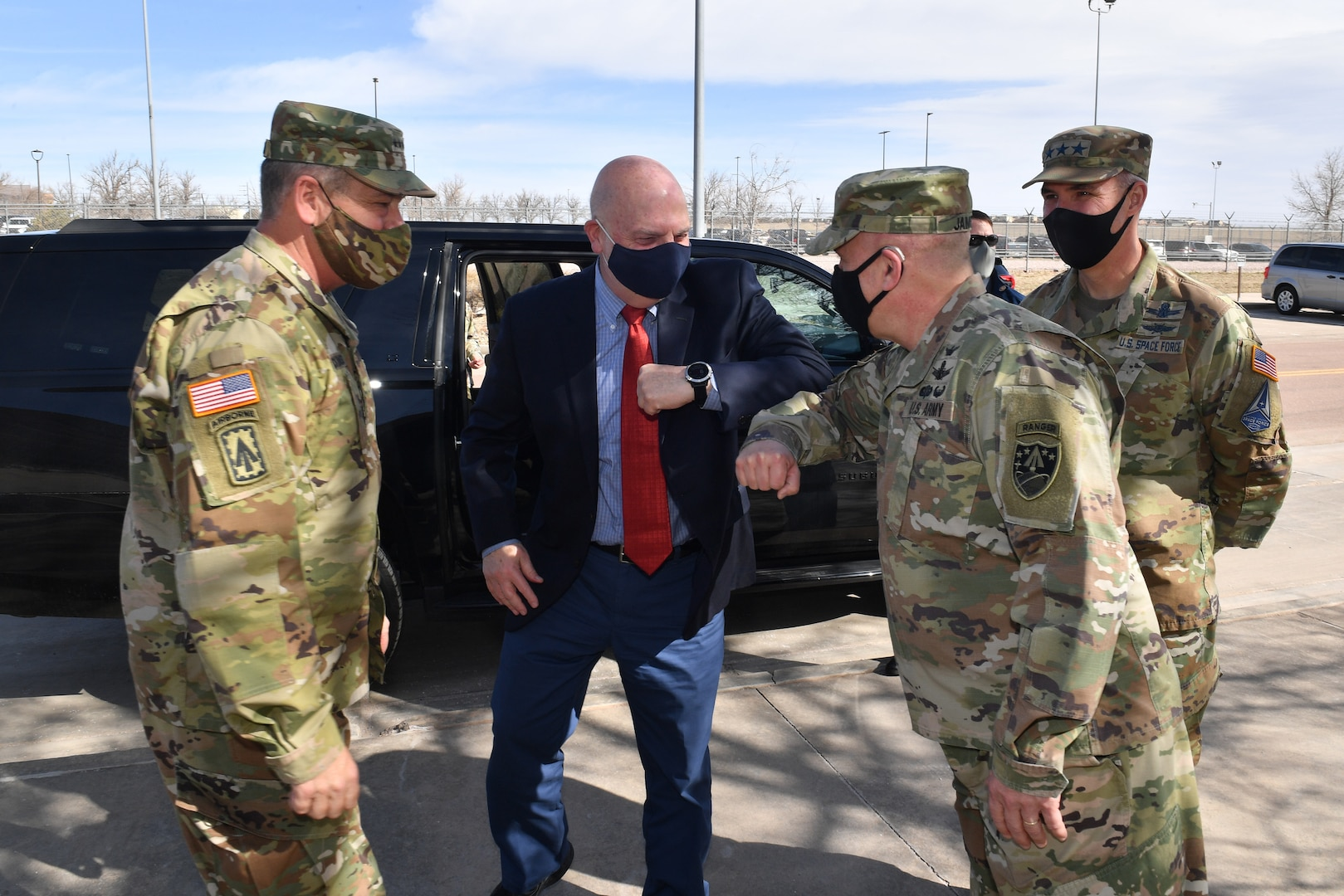 Military leaders gather at Schriever for space mission briefings.