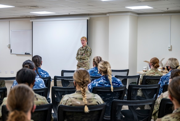 """Personnel assigned to the 727th EACS, or """"Kingpin,"""" conducted an all-women mission in celebration of Women's History Month. (U.S. Air Force photo by Staff Sgt. Miranda A. Loera)"""