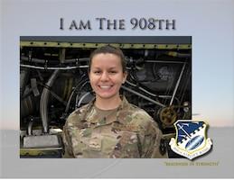 I am The 908th: Senior Airman Bonnie Hardy