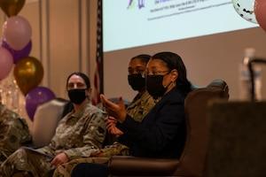 Photo of Team Shaw members talking