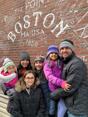 The Bailey family on a day out in Boston. John Bailey (right), currently the deputy director of the Agile Development Office within the Fighters and Advanced Aircraft Directorate, spent a year in the Massachusetts Institute of Technology's Sloan Fellows MBA Program.