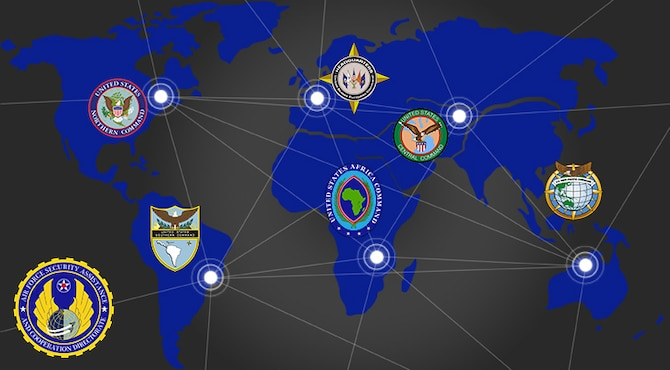 Graphic shows AFSAC big data partners all over the world. (USAF graphic by Jonathan Tharp/AFSAC)