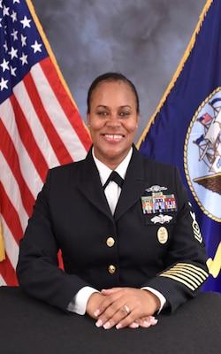 Official portrait of  Command Master Chief Raquel C. Jeffers.