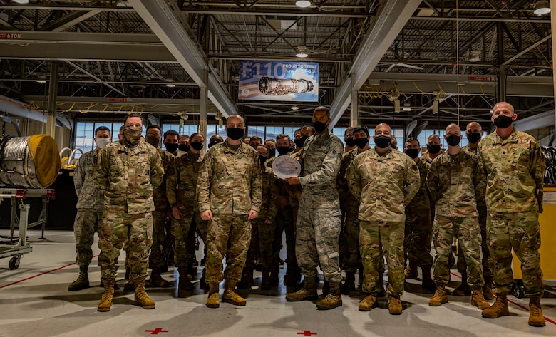 A photo of a group of Airmen.