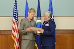 Betty Sapp and Maj. Gen. Susan K. Mashiko