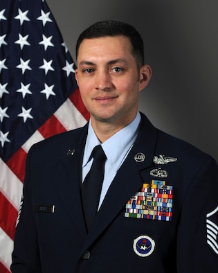 Master Sgt. Jason Henry, 733rd Training Squadron flight engineer instructor, is the 4th AF Senior NCO of the Year for 2020. (Courtesy photo)
