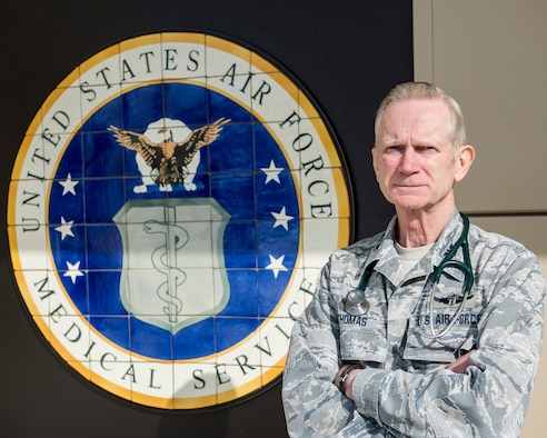 Col. Craig R. Thomas, 168th Medical Group commander, 168th Wing, Alaska Air National Guard, is set to retire after over 48 years in uniform, Eielson Air Force Base, Alaska, April 8, 2020.