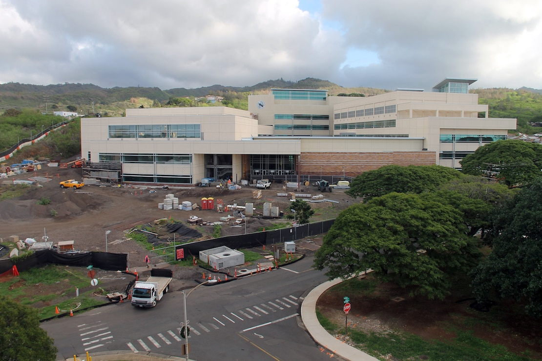 Construction of the Command and Support Operations buildings (left and right/Phase 3) continues at the U.S. Army Pacific 's new Command and Control Facilty on Fort Shafter.