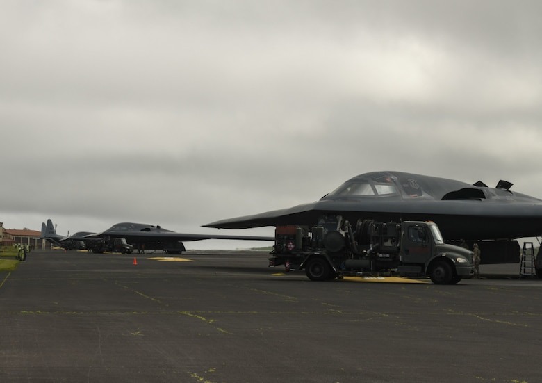 Active-duty and Air National Guard Airmen assigned to Whiteman Air Force Base, Mo., deployed to Lajes Field in support of Bomber Task Force Europe.