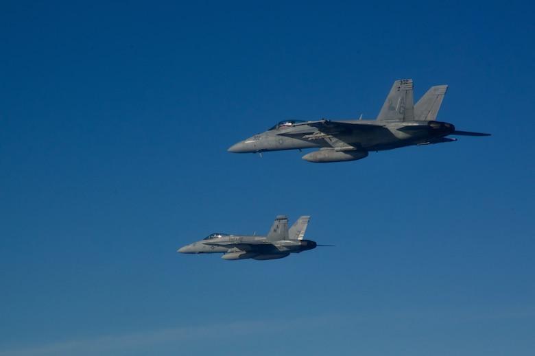 F/A-18s in flight