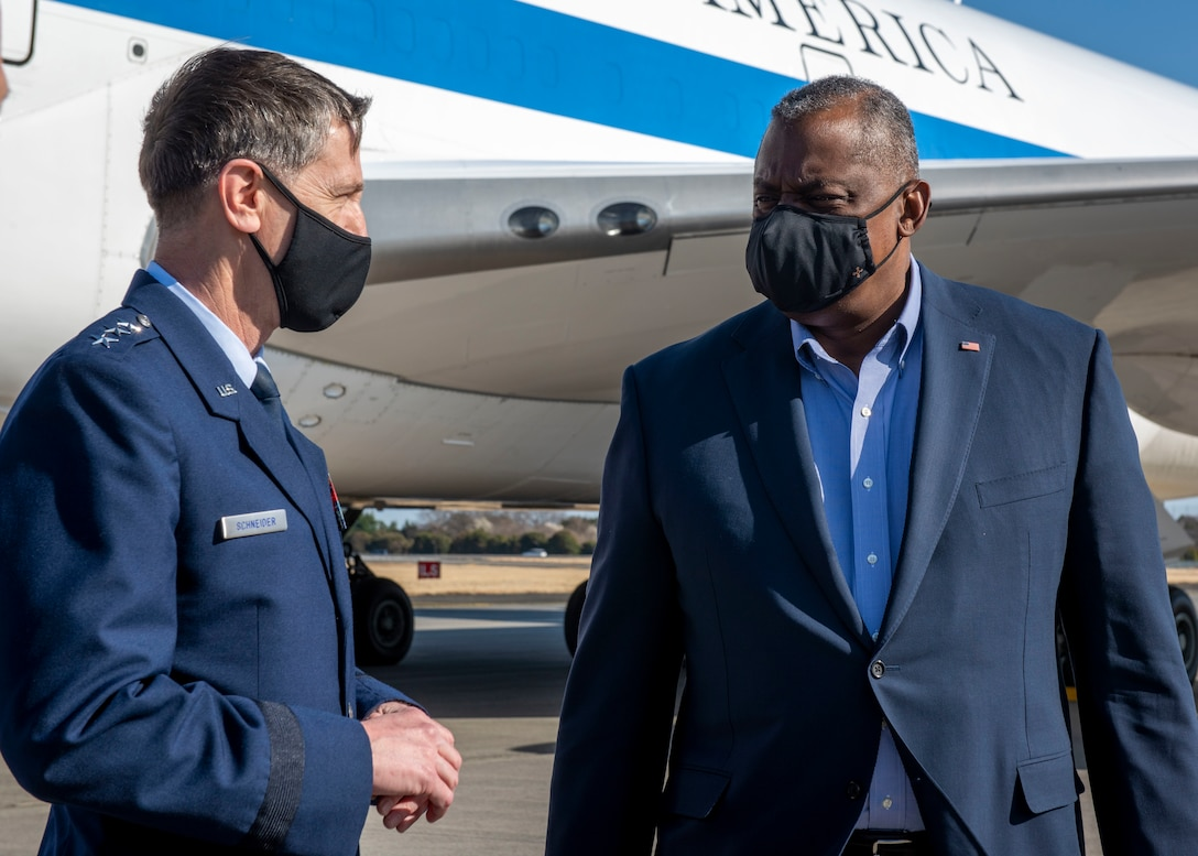 Secretary of Defense Lloyd J. Austin III visits Yokota