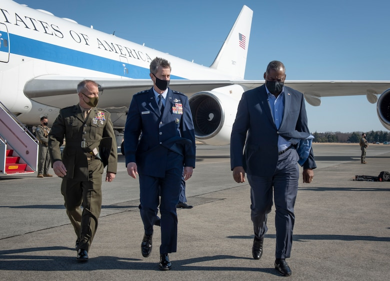 Secretary of Defense Lloyd J. Austin III visits Yokota