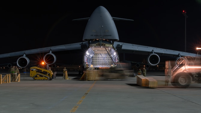 C-5 Galaxy being loaded