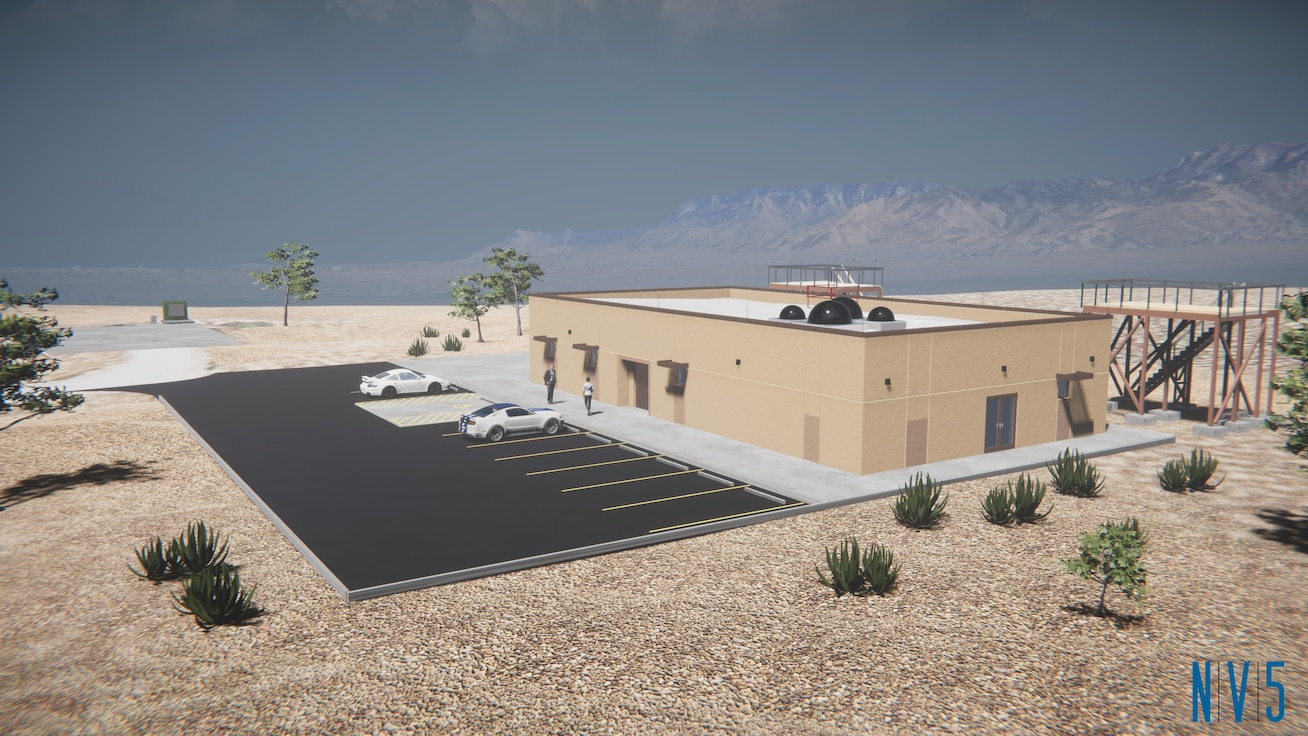 rendering of future laboratory on Kirtland Air Force Base