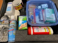 An evacuation or moving to a civilian shelter or designated place is more dangerous than remaining where you are in some cases, such as with short- or no-notice emergencies. The direction may be to shelter-in-place. Building an emergency kit is one of the ways to prepare for such a situation. (U.S. Marine Corps photo by Pamela Jackson)