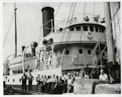 The crew of the US Lighthouse Service Tender Cedar,