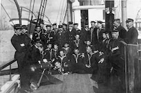 The crew of a revenue cutter, possible USRC Forward, circa 1900.