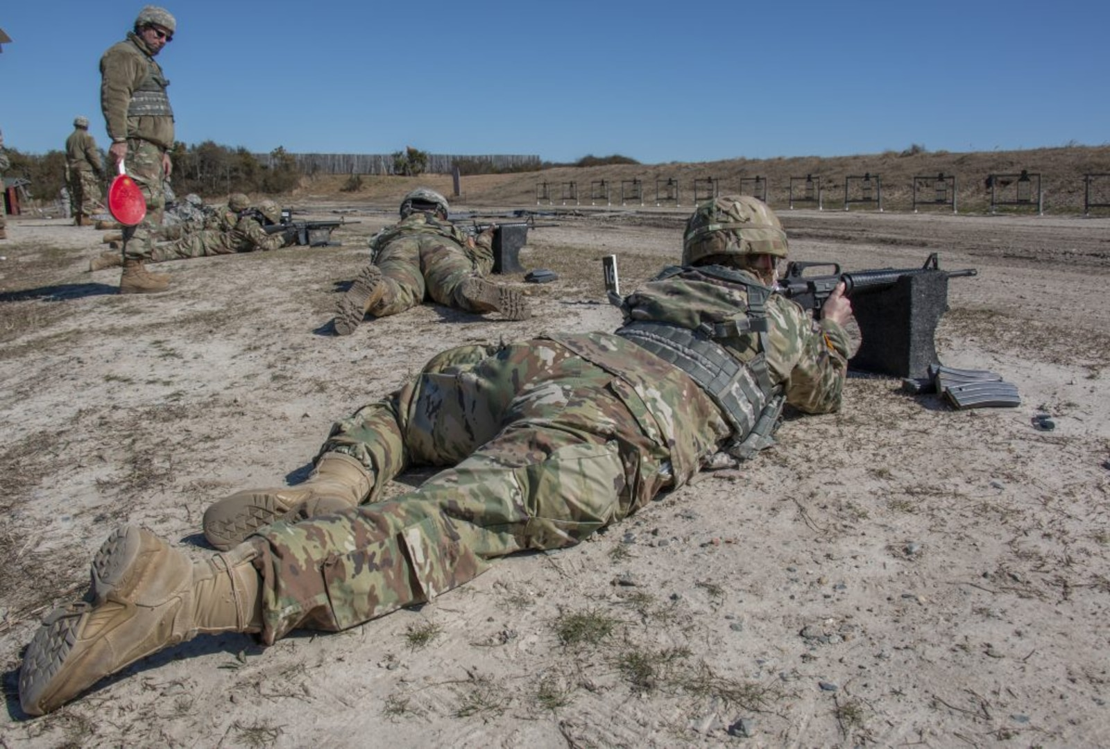 18th Field Hospital trains on renovated range at SMR