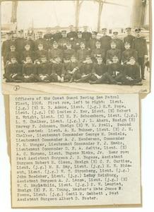 Officers of the Coast Guard [sic--Revenue Cutter Service] Bering Sea Patrol Fleet, 1908