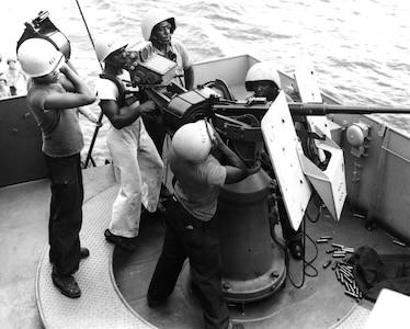 African-American Coast Guard gun crew during World War II