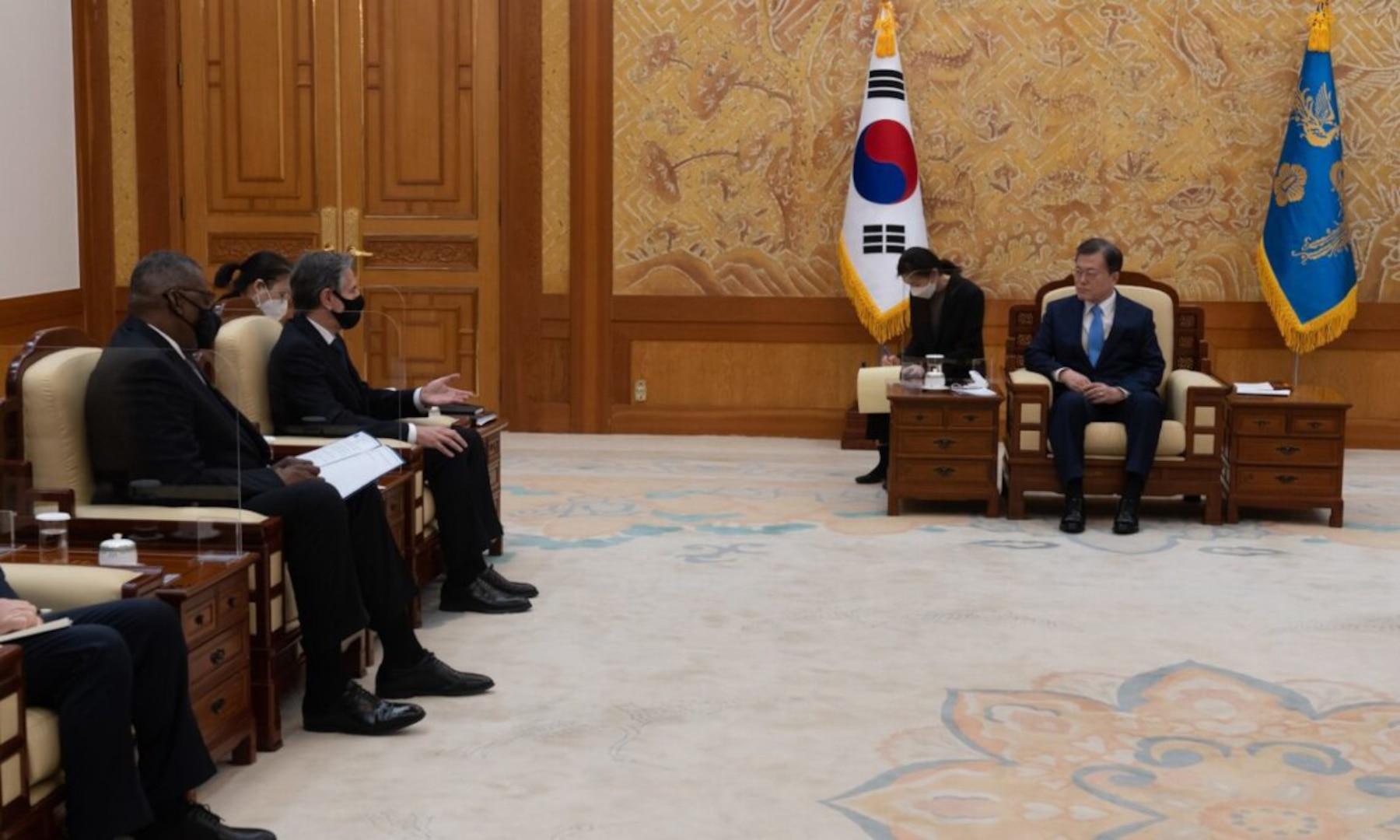 Secretary Blinken and Secretary Austin's Meeting with Republic of Korea President Moon