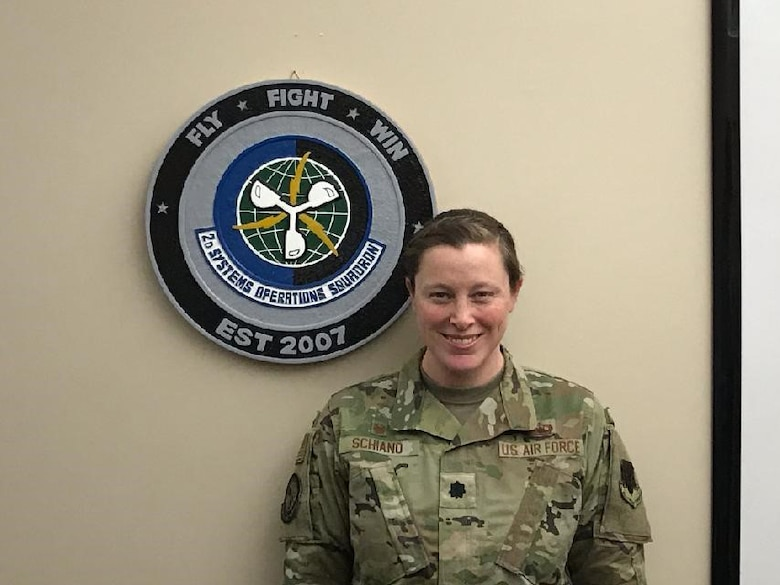 Photo of Lt. Col. Heidi Schiano, 2d Systems Operations Squadron commander.