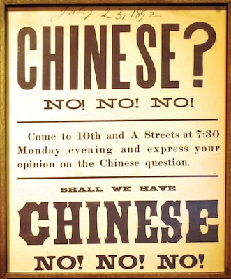 The Chinese Exclusion Act was a United States federal law signed by President Chester A. Arthur on May 6, 1882,