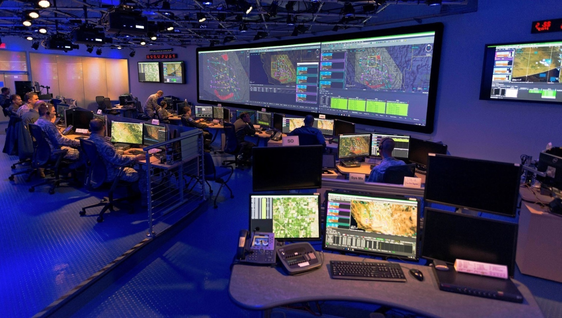 Common Mission Control Center at Beale Air Force Base, California, 5 March 2021.