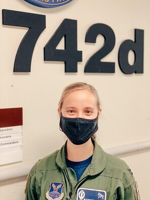 This is Captain Alyssa Ford, one of two squadron weapons officers and her specific job is overseeing training for the entire 742nd Missile Squadron at Minot Air Force Base, North Dakota March 8, 2021.