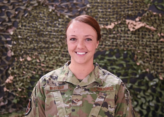 SrA Alexis Wheeler is a training instructor for the 5th Security Forces Squadron at Minot Air Force Base, North Dakota March 8, 2021.