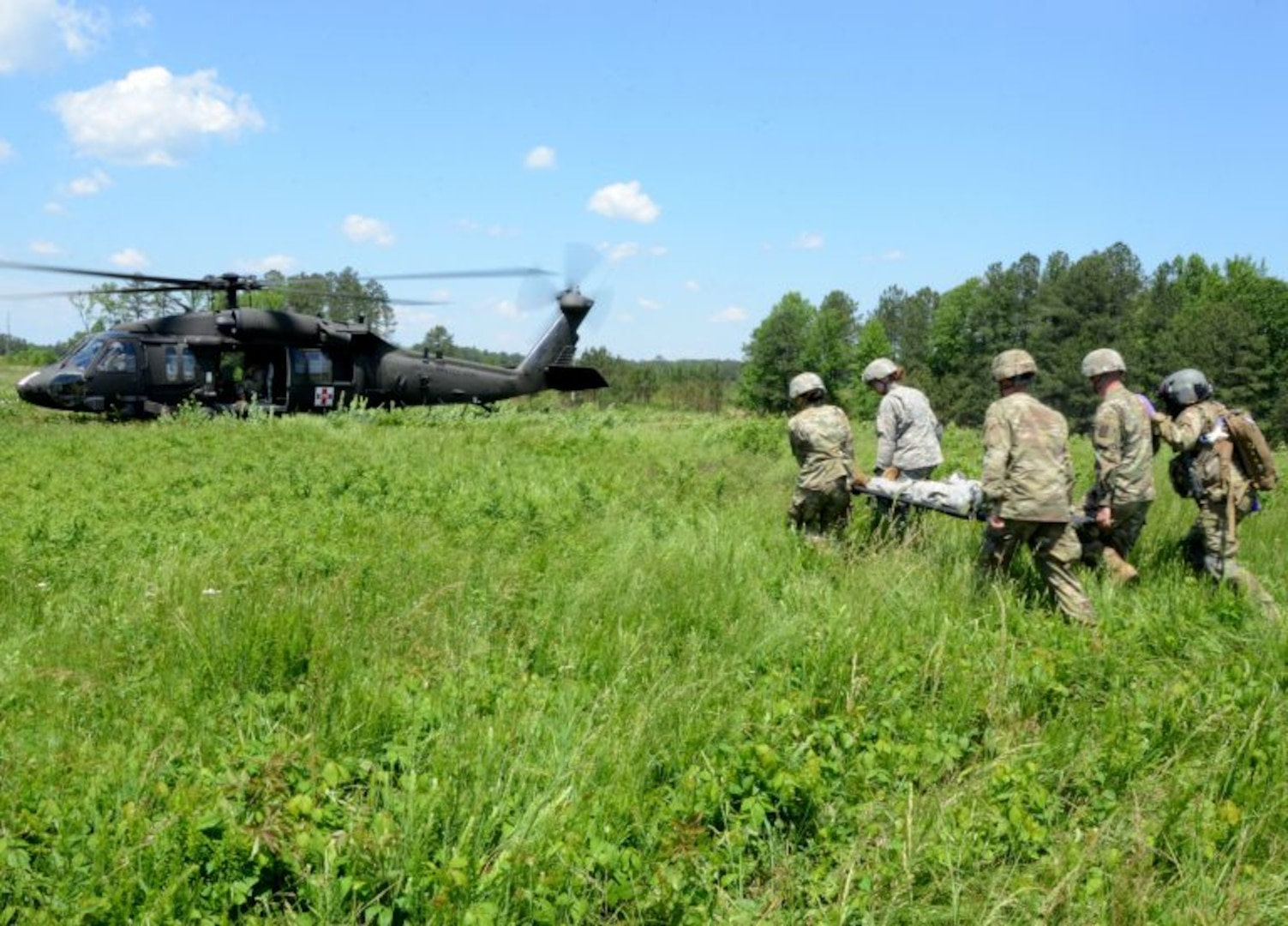 1710th TC teams with aviators for MEDEVAC exercise