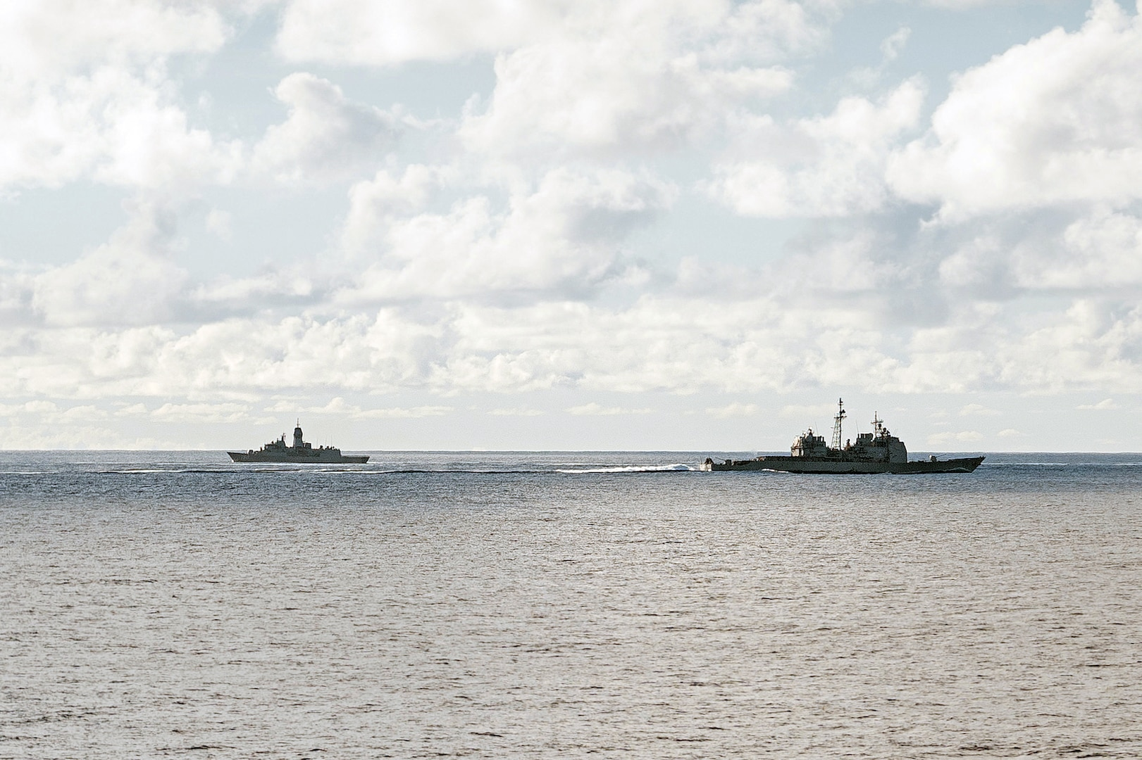 USS Bunker Hill operates with Royal Australian Navy