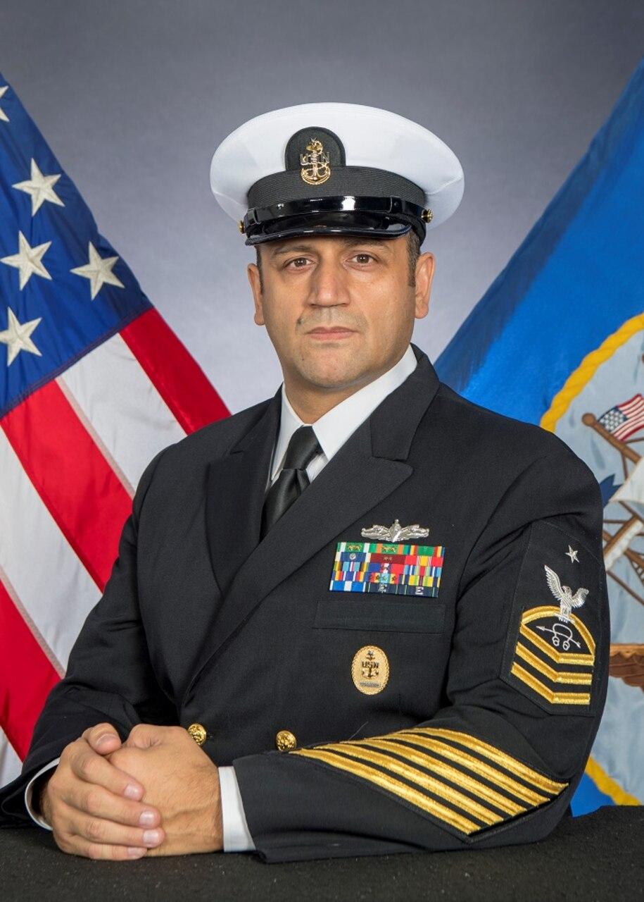 Senior Chief Sonar Technician (Surface) Eric Juarez