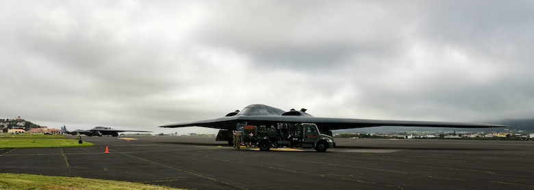 The B-2's deployment to Lajes Field provides a staging point allowing commanders to confront a broad range of global challenges in support of the National Defense Strategy, through the employment of a multi-role bomber.