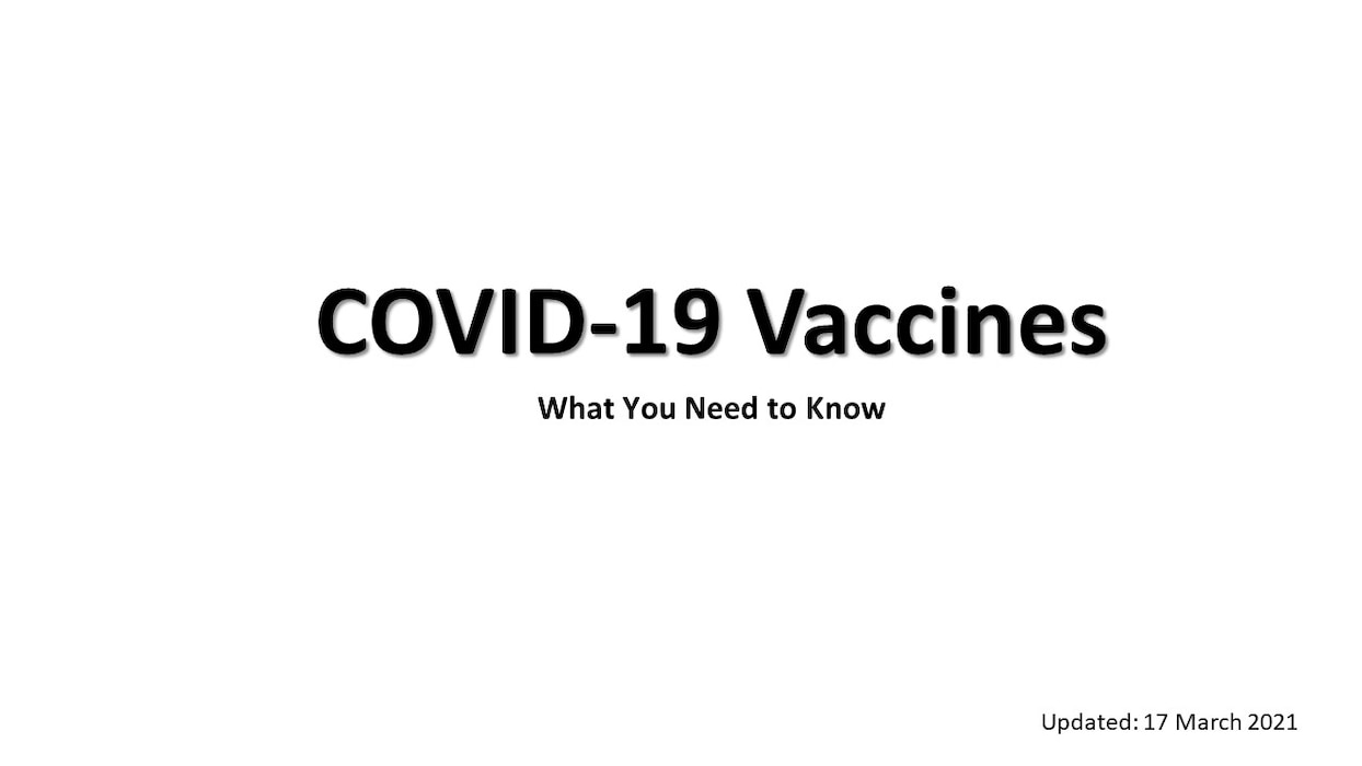 COVID-19 Vaccines - What you need to know