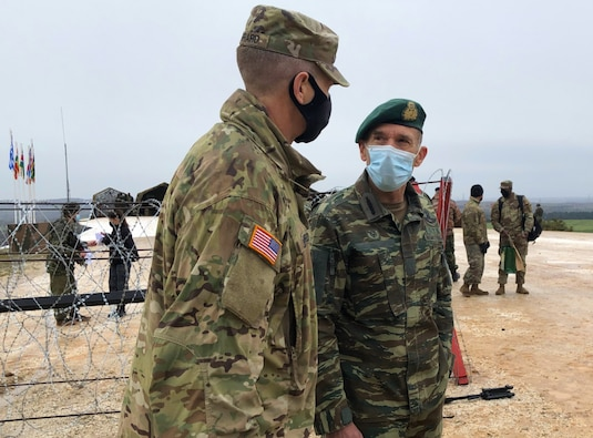 VIPs observe Thracian Cooperation 2021 live fire finale