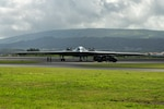 A B-2 Spirit, assigned to Whiteman Air Force Base, Missouri, hot-pit refuels at Lajes Field, Azores, March 19, 2021. The bomber supported a Bomber Task Force mission during which it integrated Norwegian F-35s in the High North. U.S. Global Strike Command Airmen and assets routinely operate across the globe and are flexible to respond to changes in the operational environment.