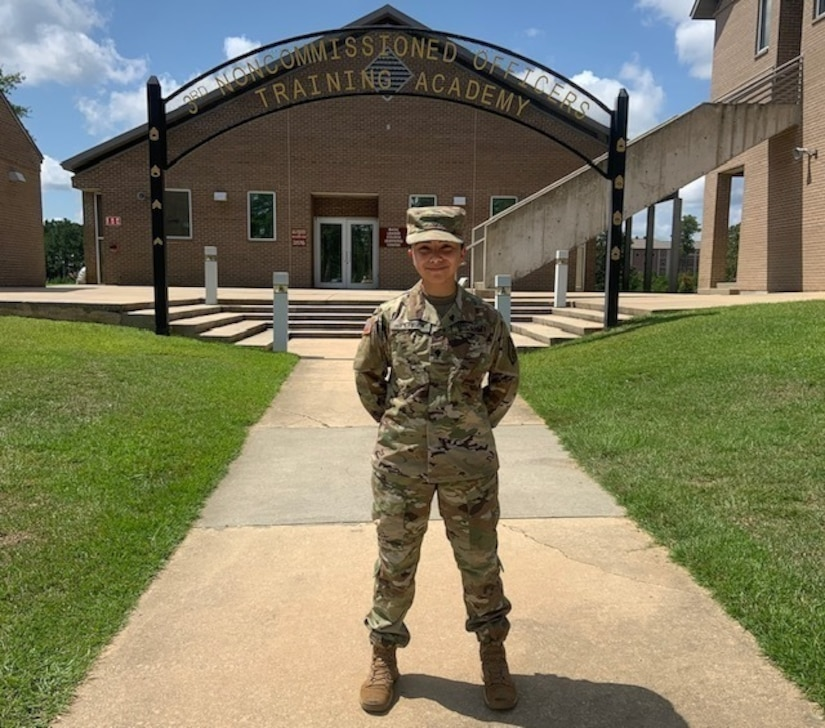 Army supply specialist, honors student competes for beauty crown