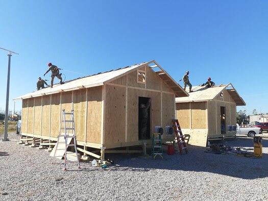 building barracks huts