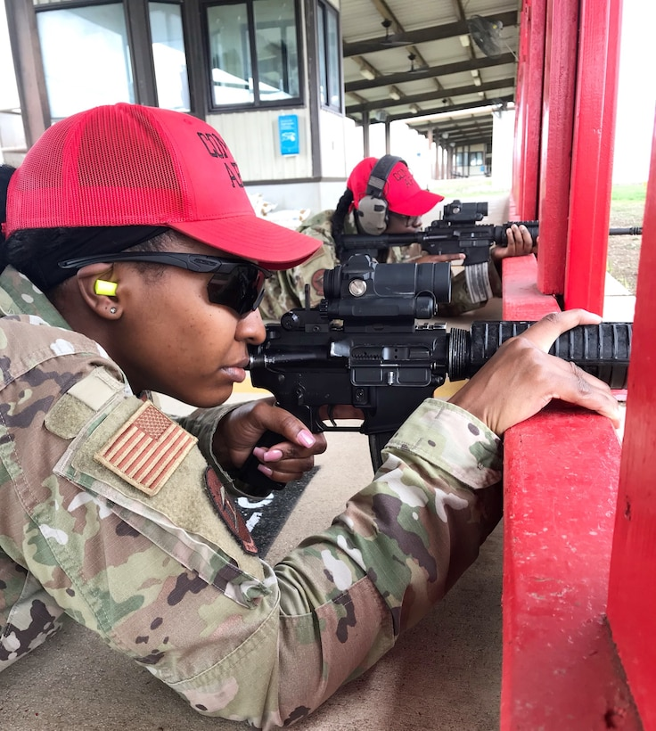 JOINT BASE SAN ANTONIO-CHAPMAN TRAINING ANNEX, Texas – Courage and resiliency are part of day-to-day operations here, so a strong mentality is nothing new for five female security forces specialists assigned to the 37th Training Support Squadron Combat Weapons Flight.