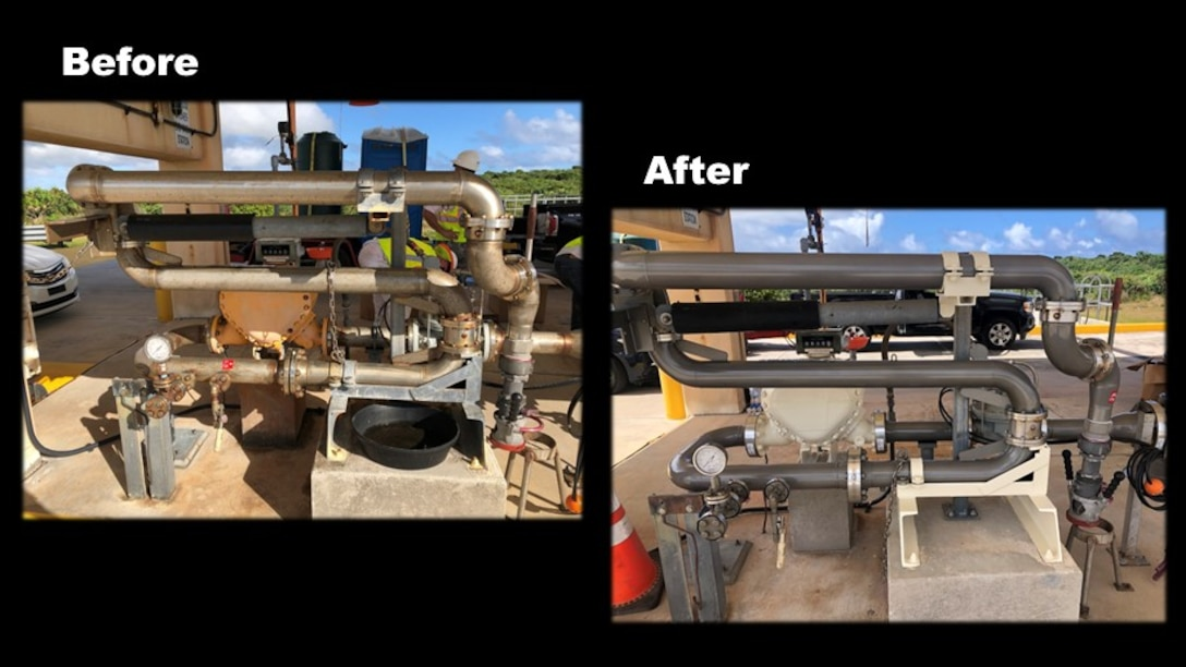 before and after pictures of fill stands and pump stations