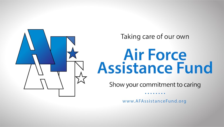 Graphic depicting the AFAF campaign and website www.AFAssistanceFund.org.